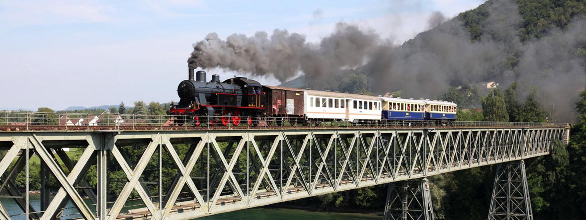 Sonderfahrt Eisenbahnbrücke Hemishofen