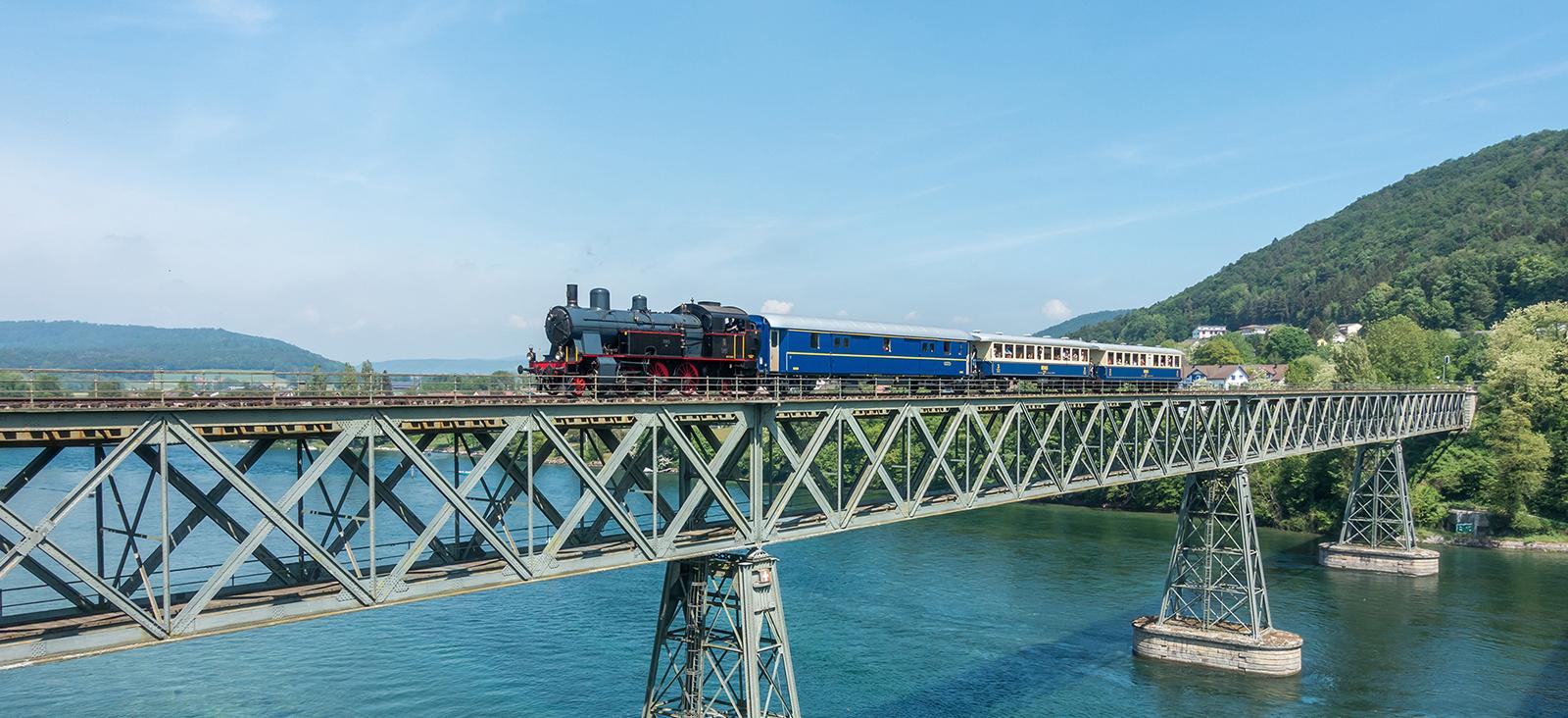 Eb3-5-9 mit Eisenbahnbrücke Hemishofen